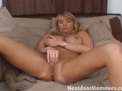 Older sex woman with huge tits masturbates