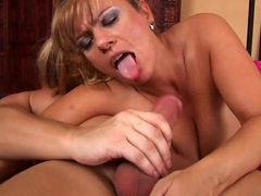 Big titted MILF being shafted