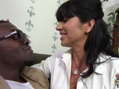 Big boobed cougar yearning for black cock