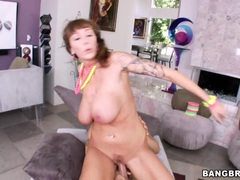 Alia Janine enjoys getting her hot pussy pulverized