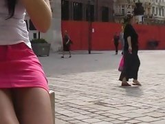 Sexy girl walking the streets