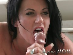 MOM Mature MILF takes charge of her mans dick