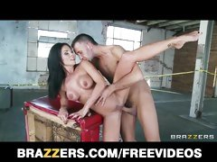 Beautiful brunette cop Kirsten Price is wild