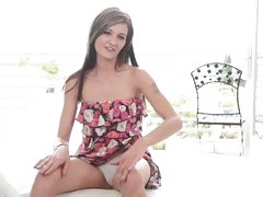 Maddi Squirts and Gags at Calendar Audition