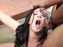 Raunchy Tory Lane gets her face drenched with hot jizz