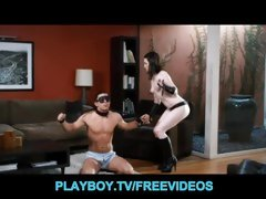 First time Domanatrix babe punishes her man