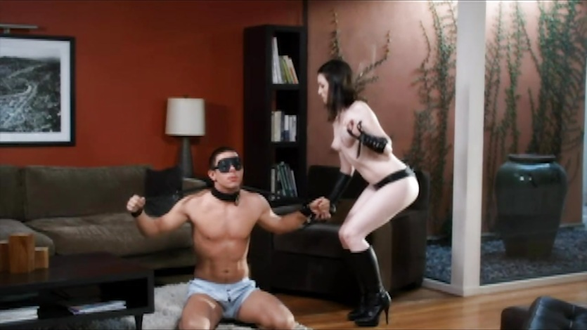 First time domanatrix punishes her man 5