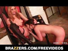 Sexy blonde MILF seduces her supple teen roommate