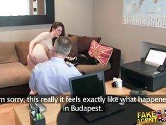 Fake Agent UK Posh British girl gets anal creampie