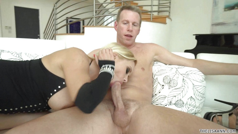 Lisa Ann And Katja Kassin drool over these hard cocks