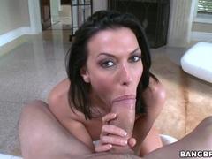 Sensual Rachel Starr devours this hard throbbing cock