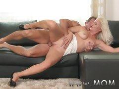 MOM Blonde MILF gets fucked deep and hard