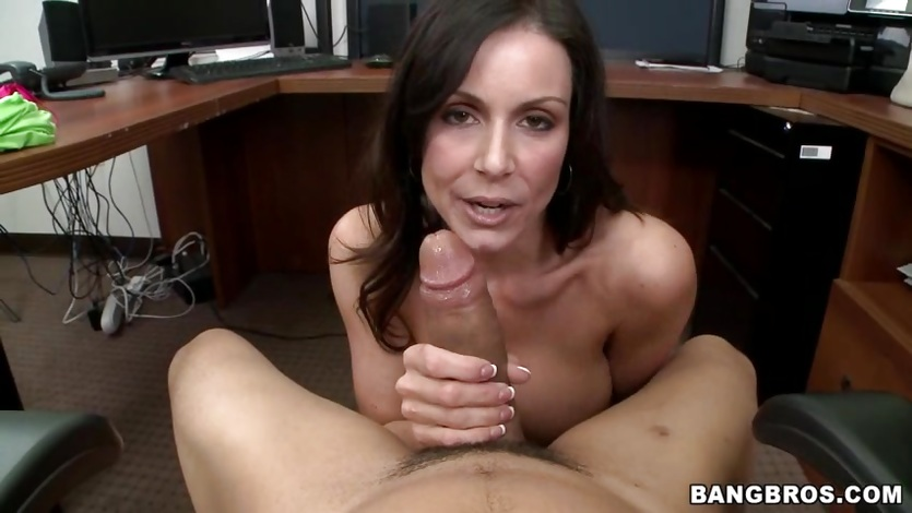 Seductive Kendra Lust loves teasing this hard cock