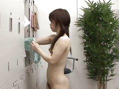Asian caught on camera stripping in the locker room