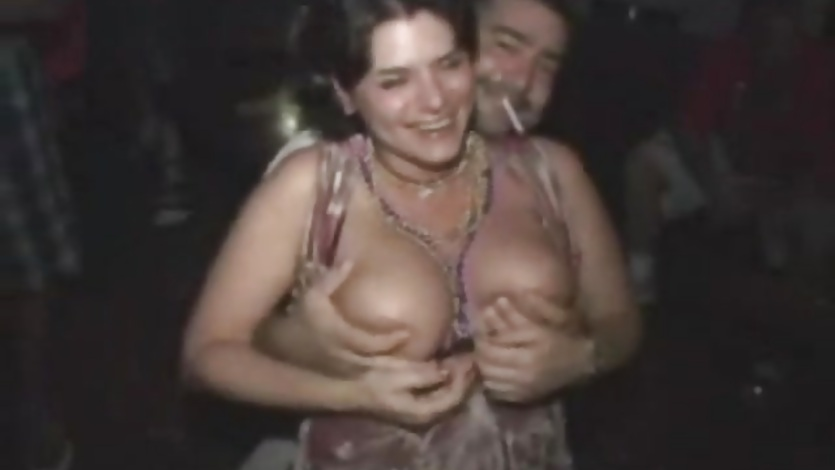 Tit flashing babes at a party