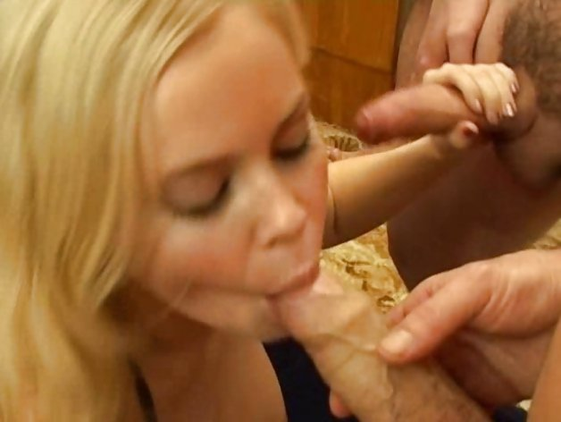 Suck and facial fest for cum hungry blonde