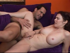 Mae Victoria takes this hard dick deep in her wet slot