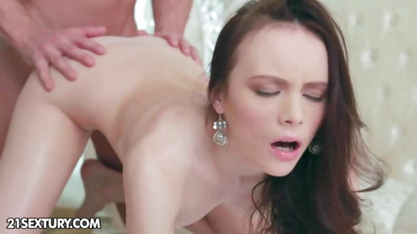 Sensual babe gets her ass filled with hard cock