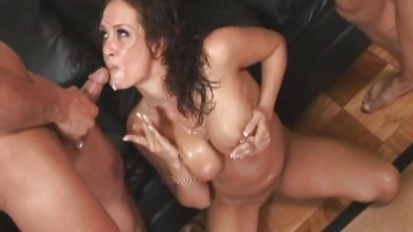 Tory Lane Takes On Two hard Cocks