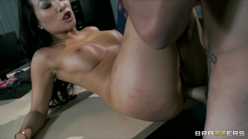 Asa Akira gets her hot pussy filled with hard cock