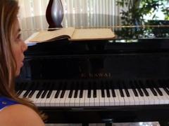 Piano teacher seduces her student