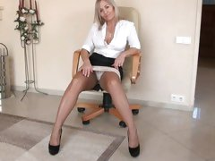 Sexy sweet MILF in nylons