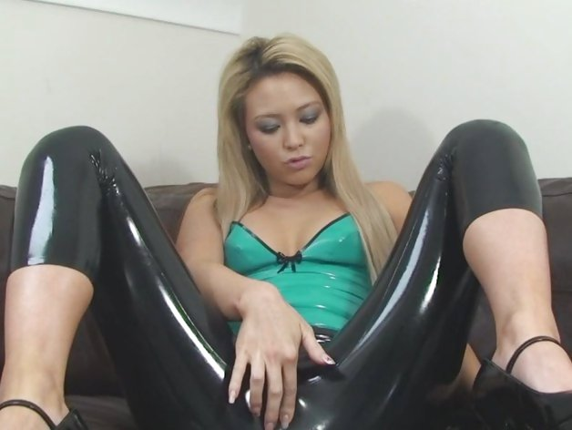 Sexy girl lovely in latex