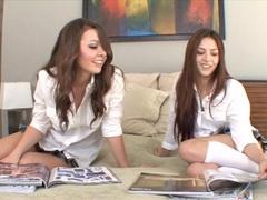 Two hot schoolgirls break for fun