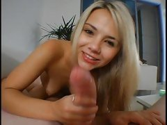 Ball Busting Pornstar Ashlynn Brooke loves to suck