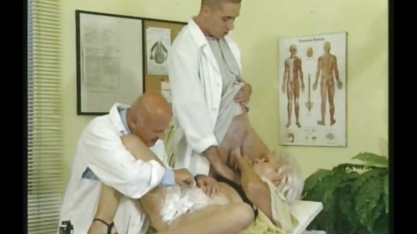 Two dirty doctors seduce a granny