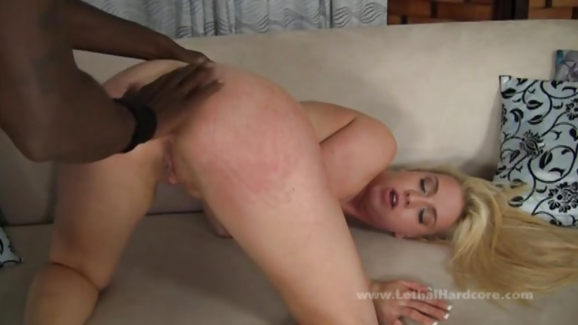 Big black dick insertion