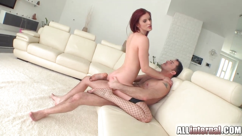 Mira Sunset rides her hot pussy on this thick cock
