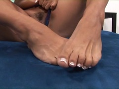 Footsie play with Mariah Milano