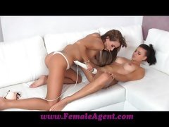 Female Agent Amazing first lesbian casting