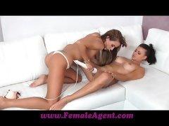 Female Agent Amazing first lesbian casting