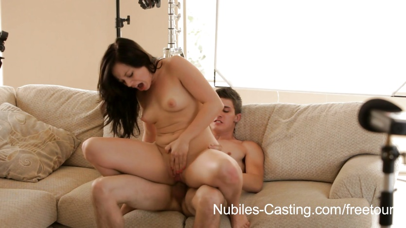 Nubiles Casting Cameras roll on her first hardcore