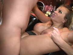 Saucy Nika Noire gets a mouth full of warm dick juice
