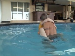 Kagney Karter internalled by the pool
