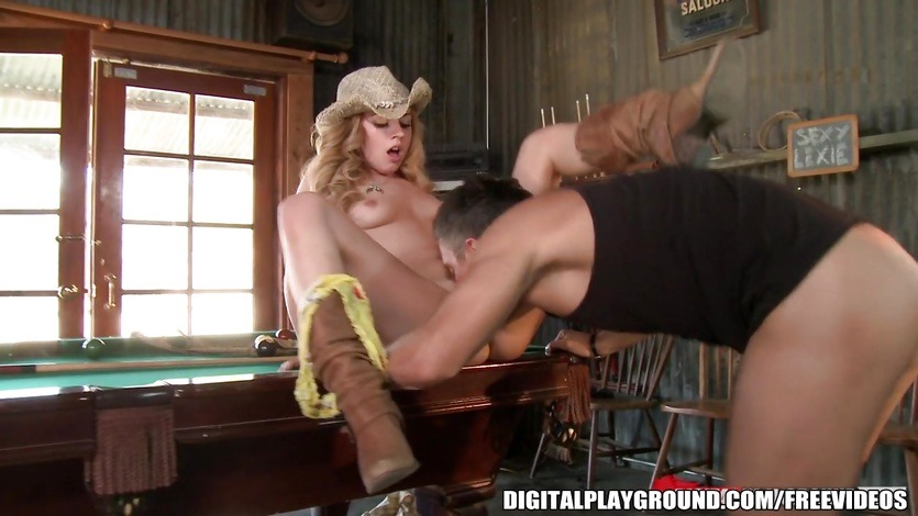 Lexi Belle with an insane ass fucks the owners son