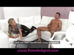 Female Agent Shy stud needs help and fucking