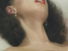 Retro anal fuck for curly haired babe
