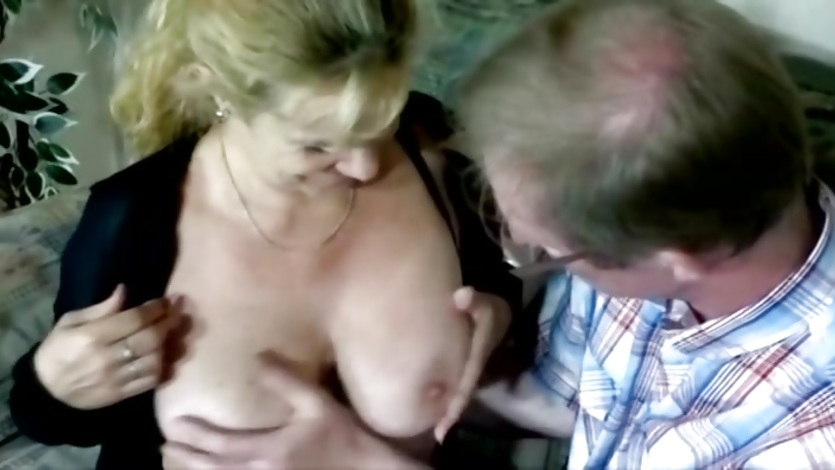 Older couple enjoy a blowjob and banging