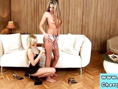 Cherry Jul loves teasing her partners wet slot