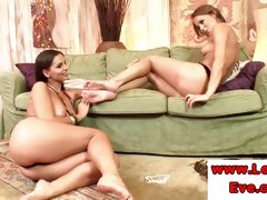 Lez Eve Angel and Mia Stone feet love