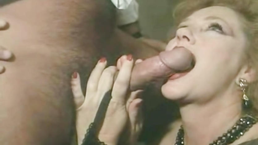 MILF gets group anal sex