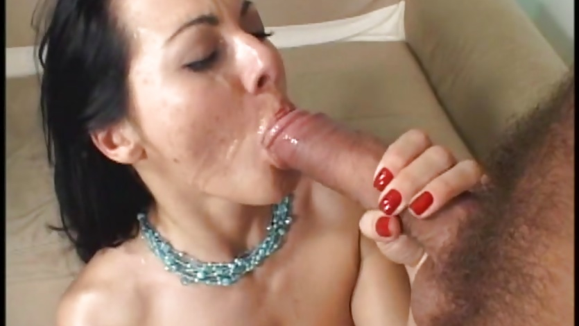 Sandra Romain loves guzzling down warm dick juice