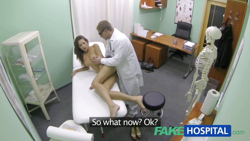 FakeHospital babe gets her moist pussy hammered
