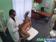 FakeHospital hottie gets her moist slot slammed