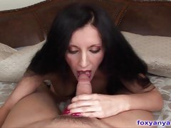 Beautiful MILF Sucks And Slides On a huge Cock