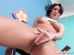 Asa Akira Director's Chair Solo strip